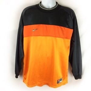 NIKE | Team black/orange long sleeved mock neck XL
